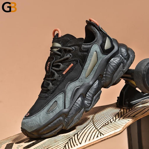 Height Increasing Spring Autumn Breathable Men Chunky Sneakers High Elasticity Adult Male Casual - SolaceConnect.com