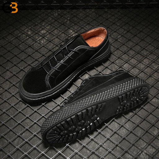 Winter Men Casual Flat Shoes Street Retro Lace Up Cow Suede Sneakers Spring Autumn Work Safety - SolaceConnect.com