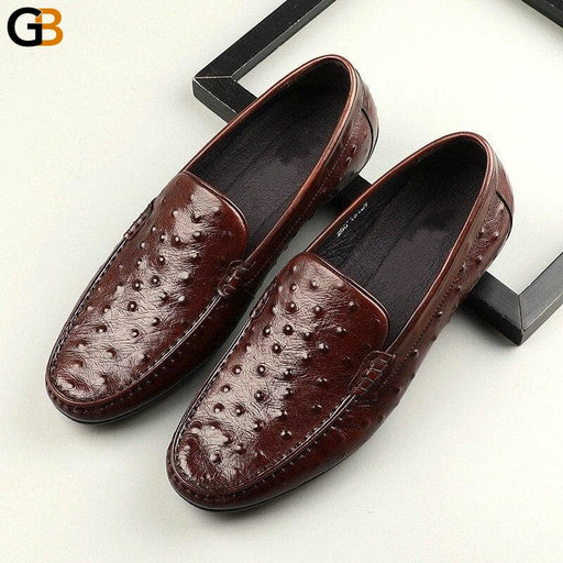 Fashion Mens Shoes Embossing Classic Luxury Slip On Business Dress Shoes Men Footwear Comfortable - SolaceConnect.com
