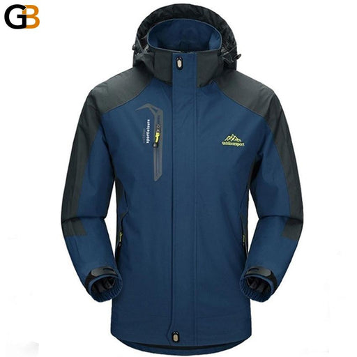 Mountainskin 5XL Men's Jackets Waterproof Spring Hooded Coats Men Women Outerwear Army Solid - SolaceConnect.com