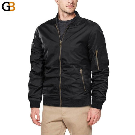 Autumn Men's Lightweight Bomber Jacket Coat Mens Spring Casual Jackets Students Baseball Style Coats - SolaceConnect.com