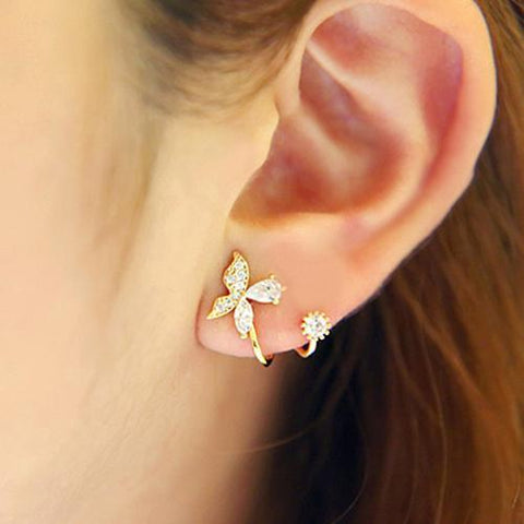 new arrival hot sell fashion butterfly 925 sterling silver ladies`stud earrings jewelry gift - SolaceConnect.com