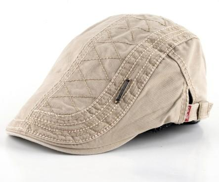 Retro Cotton Beret Hats Casual Peaked Flat Patchwork Caps for Men - SolaceConnect.com
