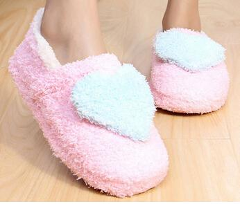 Lovely Ladies Soft Indoor Slippers Cotton-Padded Outsole Shoes - SolaceConnect.com