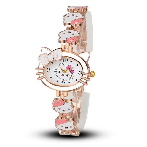 Hello Kitty Fashion Cute Child's Cartoon Bracelet Quartz Wristwatch - SolaceConnect.com