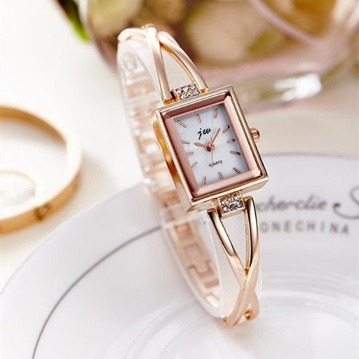 Luxury Fashion Rhinestone Stainless Steel Bracelet Quartz Watches for Women - SolaceConnect.com