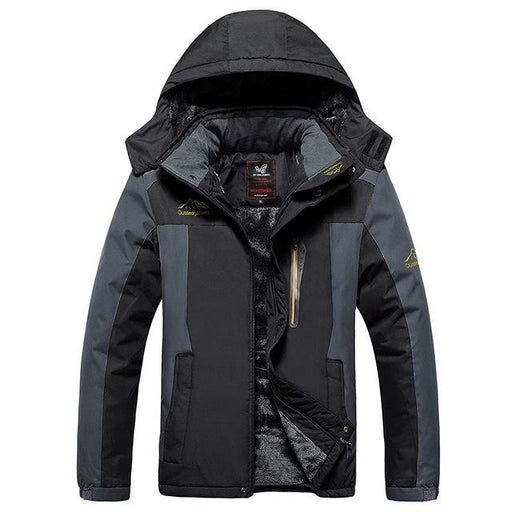 9XL Winter jackets pourpoint XL Plus size windproof coat Waterproof Fleece thickening Big yards - SolaceConnect.com