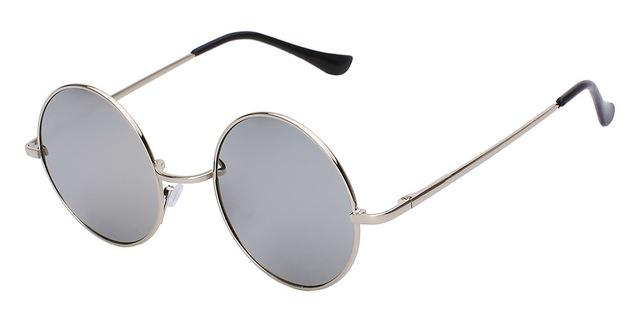 Unisex Round Steampunk Metal Designer Sunglasses with UV400 Protection - SolaceConnect.com