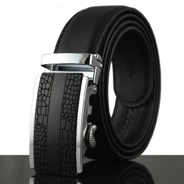 Men's Hot Fashion Cowhide Leather Designer Luxury Automatic Belt - SolaceConnect.com