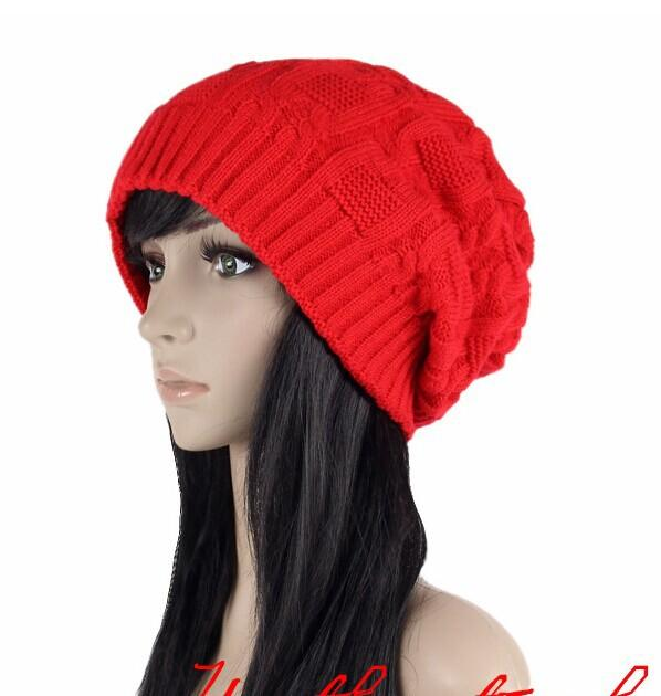 3a93692d4b9 ... Sell Like Hot Cakes Fashion Caps Warm Autumn Winter Knitted Hats For Women  Stripes Double- ...
