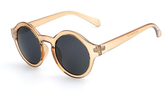Women's Vintage Round Circle Retro Sunglasses with Acrylic Lenses - SolaceConnect.com