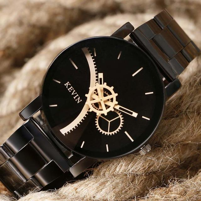 Fashion High Quality Black Quartz Gift Wrist Watches for Men & Women - SolaceConnect.com