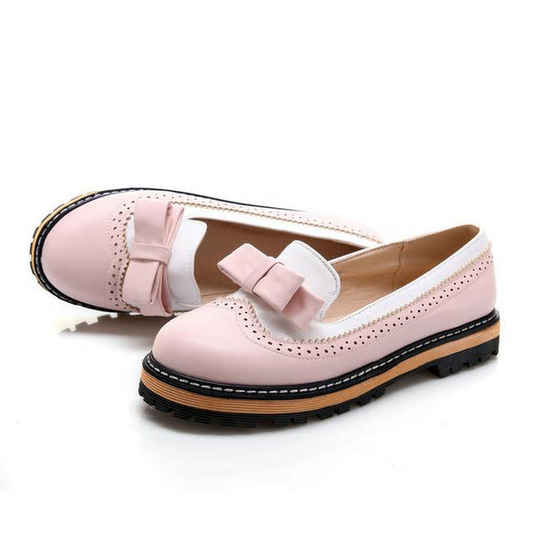 Women's Slip-On Round Toe Flat Mixed Color Lace Shallow Mouth Shoes - SolaceConnect.com