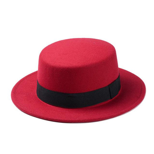 Oval Top Flat Dome Fedora Bowler Sun Hat for Men Women in 10 Colors - SolaceConnect.com