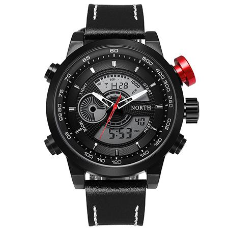 Luxury Waterproof Sports Analog Digital LED Quartz Watches for Men - SolaceConnect.com