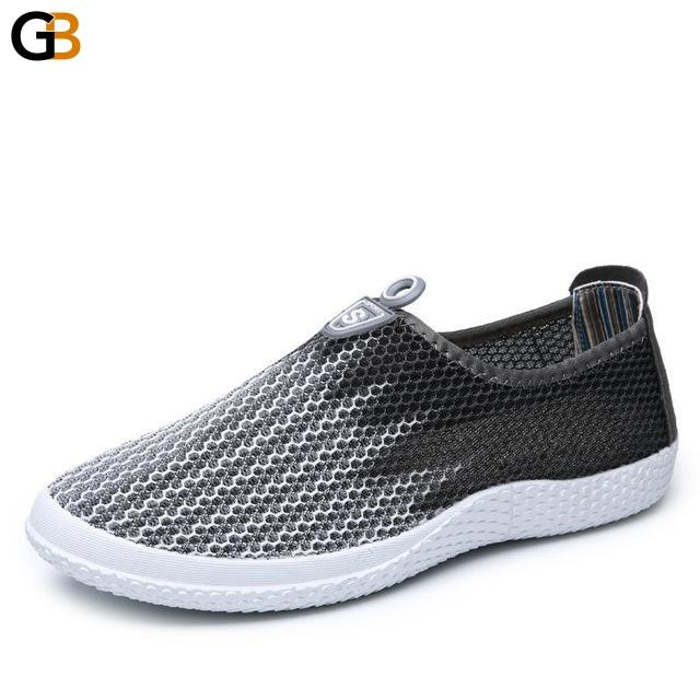 Lazy Summer Style Breathable Foot Wrapping Mesh Network Shoes for Men - SolaceConnect.com