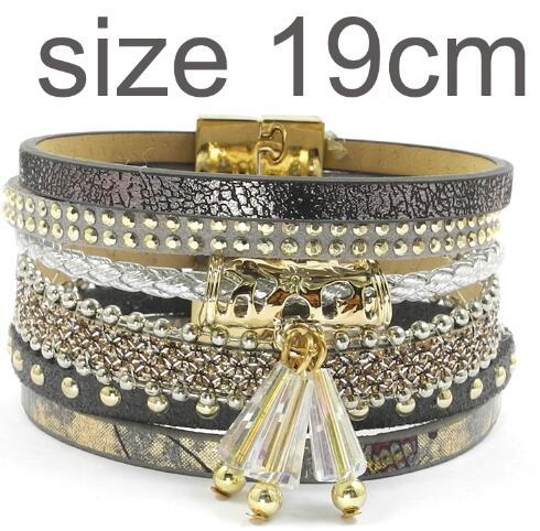 Leather Charm Magnet Buckle Bohemian Bracelets & Bangles for Summer - SolaceConnect.com