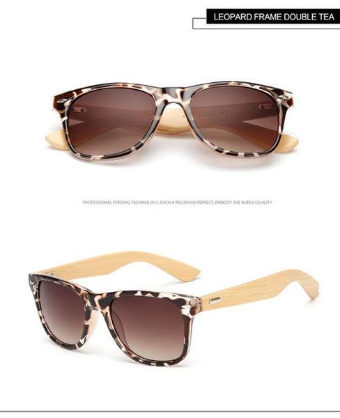 Bamboo Foot Wooden Vintage Designer Sunglasses for Men and Women - SolaceConnect.com