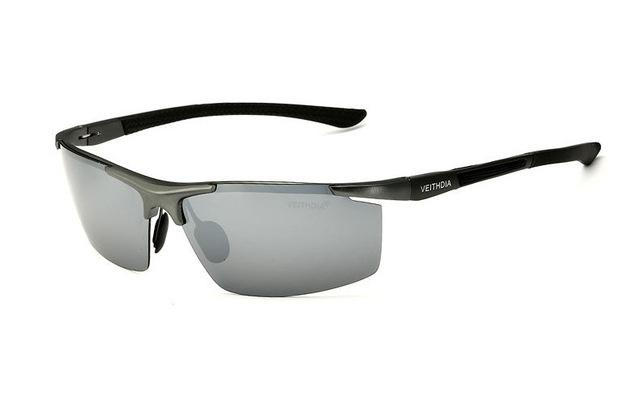 Aluminum Magnesium Frame Mirror Polarized Sun Glasses for Men - SolaceConnect.com