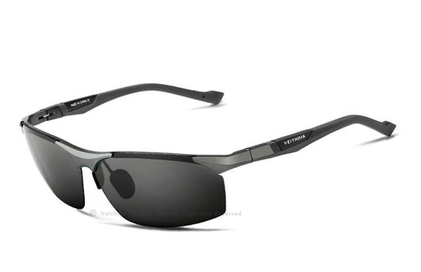 Blue Coating Mirror Aluminum Magnesium Polarized Men's Sunglasses - SolaceConnect.com
