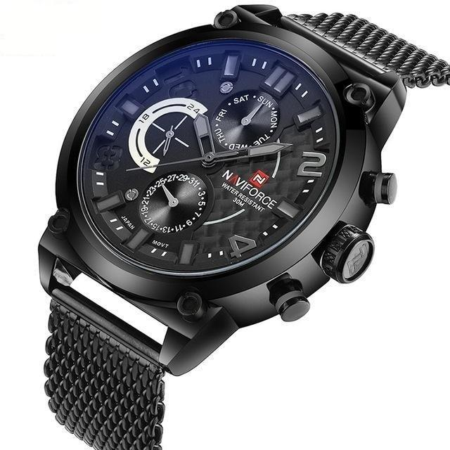 Men's Luxury Waterproof Quartz Analog Watches with Date & Clock - SolaceConnect.com