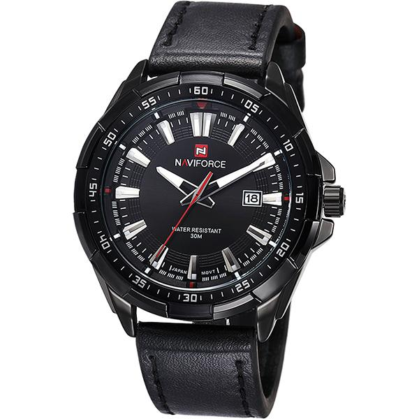 Men's Casual Fashion Waterproof Quartz Sports Military Leather Watch - SolaceConnect.com