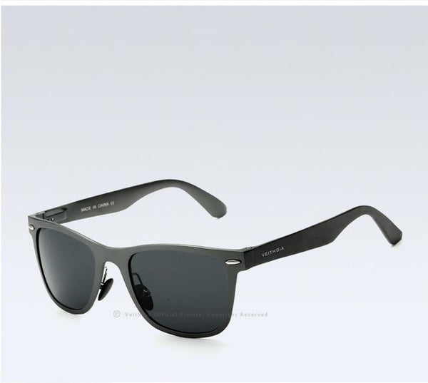 Aluminum Magnesium Fashion Unisex Mirror Polarized Goggle Sunglasses - SolaceConnect.com