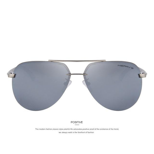 Men's 100% Polarized Aluminum Alloy Frame Sunglasses for Driving - SolaceConnect.com