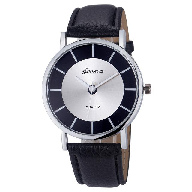 Leather Water & Shock Resistant Quartz Watch for Women & Men - SolaceConnect.com