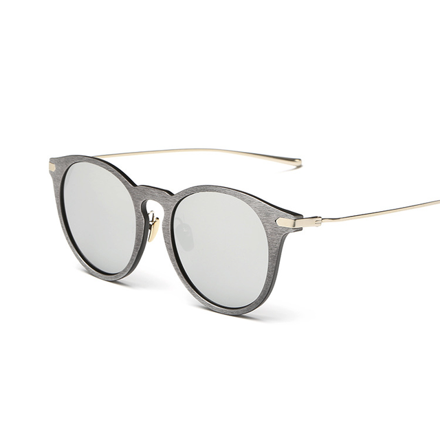 Unisex Imitate Gold Wooden Sunglasses with Vintage Designer Frames - SolaceConnect.com