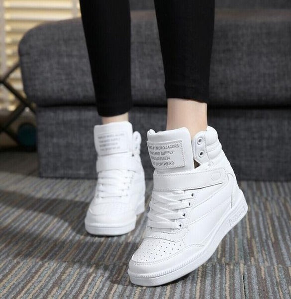 Spring Autumn Women's Casual Ankle Boots with Height Increasing Heels - SolaceConnect.com