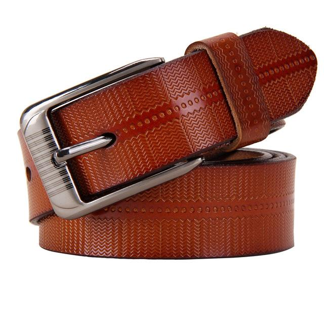 Second Layer Cow Genuine Leather Fashion Pin Buckle Women's Belts - SolaceConnect.com