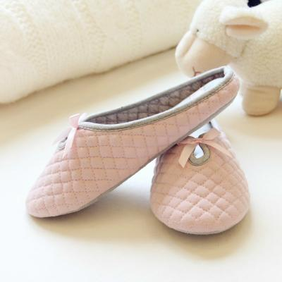 Lovely Bowtie Winter Women's Home Slippers with Soft Bottom for Indoor Use - SolaceConnect.com