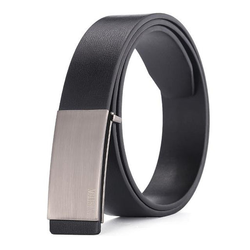 DINISITON 100% cowhide genuine leather belts for men Strap male Smooth buckle vintage jeans cowboy - SolaceConnect.com