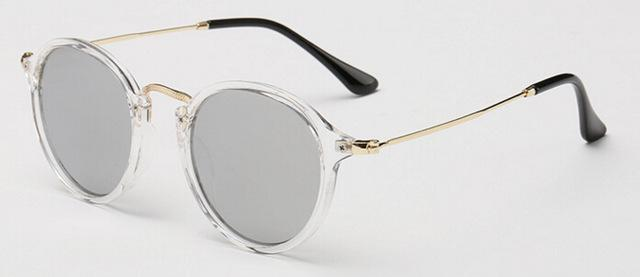 Women & Men Retro Round Sunglasses with Designer Alloy Frame & Mirror Lens - SolaceConnect.com
