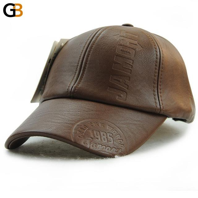 Men's High Quality Fashion Fall Winter Casual Leather Snapback Hat Cap - SolaceConnect.com