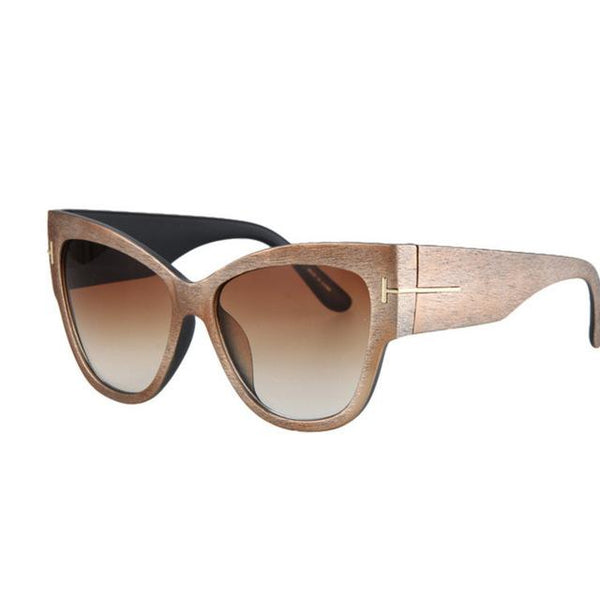 Tom High Fashion Gradient Points Cat Eye Women's Anti-Reflective Sunglasses - SolaceConnect.com