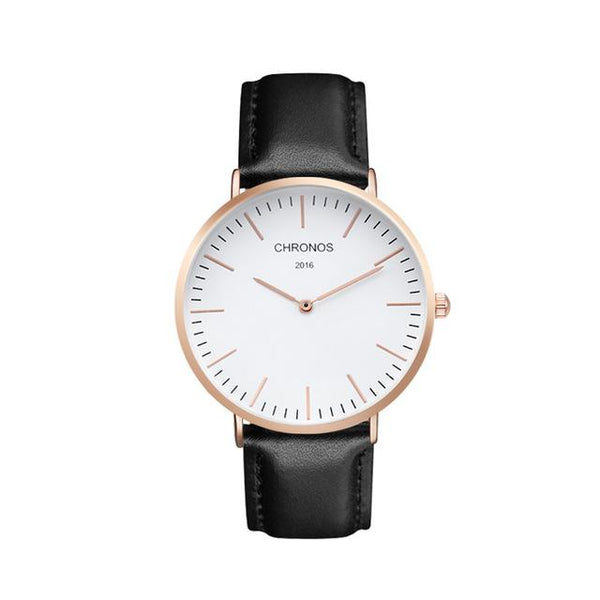 Luxury Unisex Rose Gold & Silver Color Quartz Watches for Lovers - SolaceConnect.com