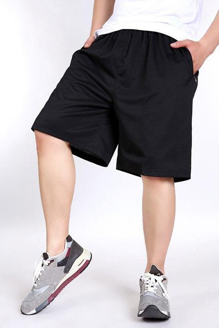 Big Size Shorts Men Solid Baggy Loose Elastic Shorts Cotton Casual Plus Size Shorts Extra Large - SolaceConnect.com