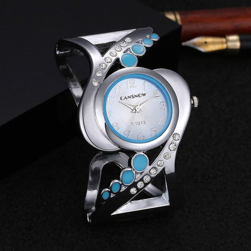 Women's Bangle Style Luxury Rhinestone Crystal Quartz Wristwatches - SolaceConnect.com