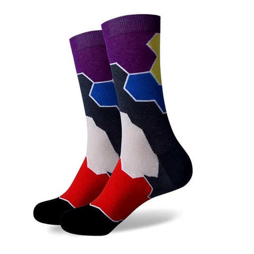 Fun Colorful Argyle Men's Breathable Cotton Socks for Wedding Gift - SolaceConnect.com