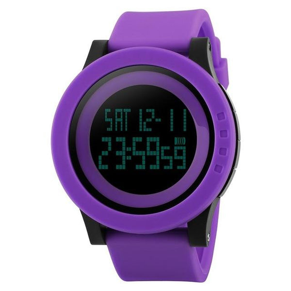 Large Dial Men's LED Digital Sports Watches with Alarm & Chronograph - SolaceConnect.com