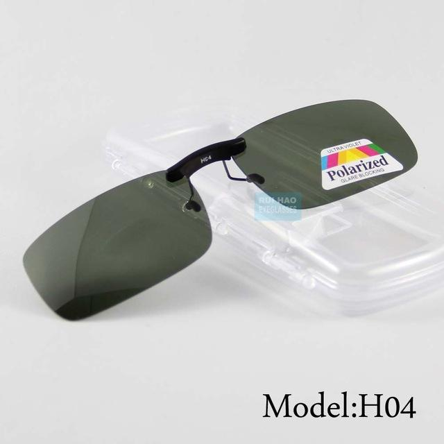 UV400 Polarized Clip On Light Unisex Sunglasses with Deep Green Lens - SolaceConnect.com