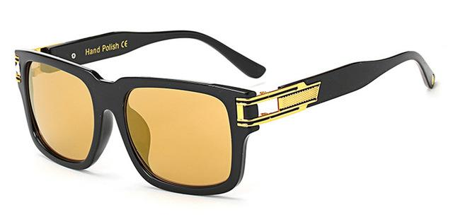 7 Colors Fashion Alloy Hinge Unisex Square Vintage Designer Sunglasses - SolaceConnect.com