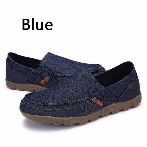 Men's Breathable Spring Summer Loafers Casual Comfortable Canvas Shoes - SolaceConnect.com
