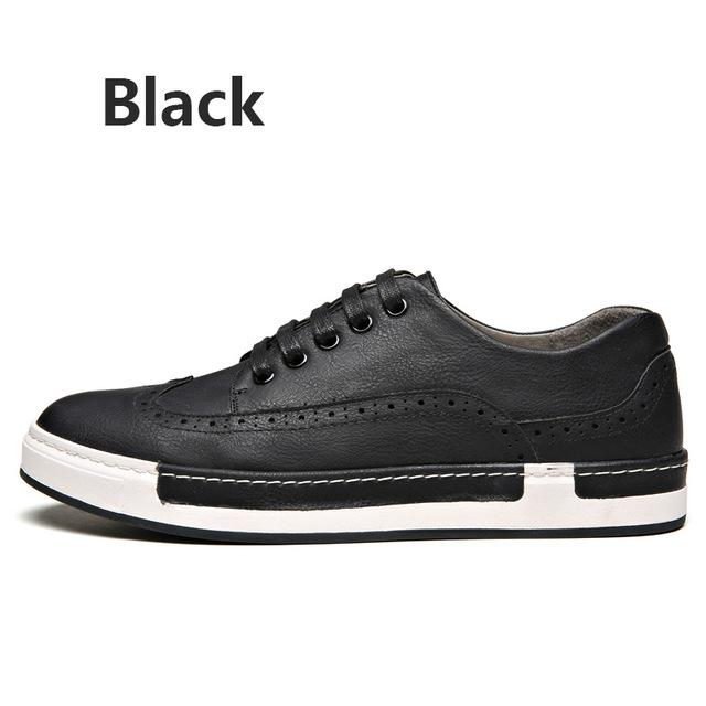 Casual Synthetic Leather British Bullock Men's Shoes for Four Seasons - SolaceConnect.com