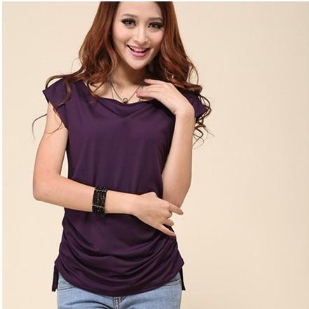 Ladies Fashion Solid Candy Color Summer Style Sell Like Hot Cakes T-Shirt - SolaceConnect.com
