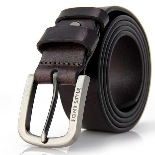 Men's belt luxury designer High quality Genuine leather man belt Pure cowhide skin strap male Formal - SolaceConnect.com