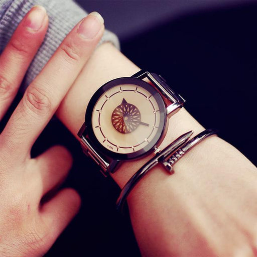 Unique Design Fashion Luxury Diamond Mirror Watches for Women - SolaceConnect.com