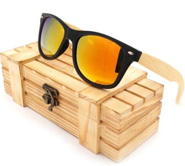 Men's BOBO BIRD Bamboo Legs Polarized Lens Sun Glasses Women Men with Wood Gift Boxes Cool - SolaceConnect.com